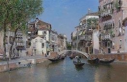 Martin Rico y Ortega | Rio San Trovaso, Venice, undated | Giclée Canvas Print
