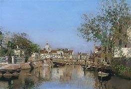 Martin Rico y Ortega | A Canal near the Isle of Giudecca, undated | Giclée Canvas Print