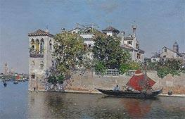 Martin Rico y Ortega | A View of a Venetian Garden, undated | Giclée Canvas Print