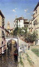 Martin Rico y Ortega | A Venetian Canal Scene, undated | Giclée Canvas Print