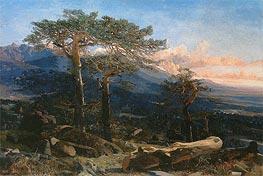 Martin Rico y Ortega | A Landscape of Guadarrama, 1858 | Giclée Canvas Print