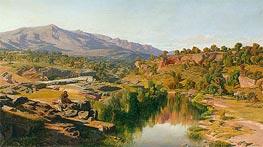 Martin Rico y Ortega | A Country, near Azanon, 1859 | Giclée Canvas Print