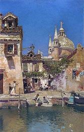 Martin Rico y Ortega | Venetian Canal Scene, undated | Giclée Canvas Print