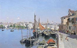 Martin Rico y Ortega | A Venetian Waterfront, undated | Giclée Canvas Print