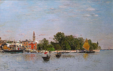 The Public Gardens, Venice, undated | Martin Rico y Ortega | Painting Reproduction