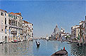 Rico y Ortega - A Gondola on the Grand Canal - Art Print / Posters