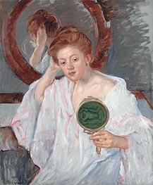 Denise at Her Dressing Table, c.1908/09 by Cassatt | Giclée Canvas Print