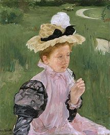 Portrait of a Young Girl, 1899 by Cassatt | Giclée Canvas Print