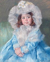 Margot In Blue, 1902 by Cassatt | Giclée Paper Print