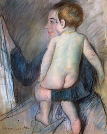 Young Woman Holding a Child (At the Window), c.1890 by Cassatt   Giclée Paper Print