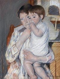 Cassatt | Woman and Child before a Washstand, 1889 | Giclée Paper Print