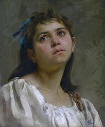 Pensive Roman Girl, undated by Cassatt | Giclée Canvas Print
