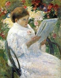 Lydia Cassatt Reading, c.1878/79 by Cassatt | Giclée Canvas Print