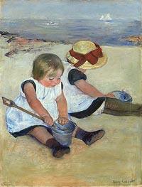 Cassatt | Children Playing on the Beach, 1884 | Giclée Canvas Print