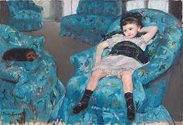 Cassatt | Little Girl in a Blue Armchair, 1878 | Giclée Canvas Print