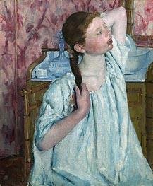 Cassatt | Girl Arranging Her Hair, 1886 | Giclée Canvas Print