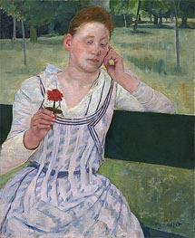 Cassatt | Woman with a Red Zinnia, 1891 | Giclée Canvas Print