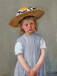 Cassatt | Child in a Straw Hat | Giclée Canvas Print