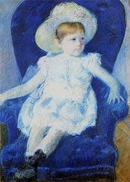 Elsie in a Blue Chair, 1880 by Cassatt | Giclée Paper Print