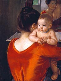 Cassatt | Woman in a Red Bodice and Her Child, c.1901 | Giclée Canvas Print