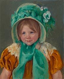 Sara in a Green Bonnet, c.1901 by Cassatt | Giclée Canvas Print