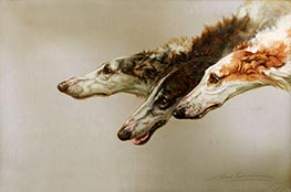 Borzoi Heads, c.1905 by Maud Earl | Giclée Canvas Print