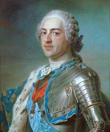 Maurice Quentin de La Tour | Portrait of Louis XV of France, 1748 | Giclée Canvas Print