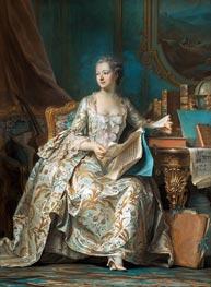 Maurice Quentin de La Tour | Marquise de Pompadour, c.1749/55 | Giclée Canvas Print