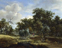 Meindert Hobbema | A Stream by a Wood | Giclée Canvas Print