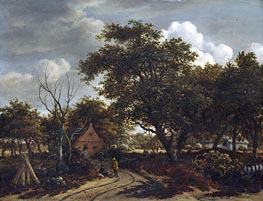 Meindert Hobbema   Cottages in a Wood   Giclée Canvas Print