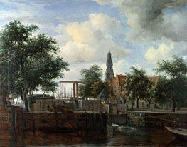 Meindert Hobbema   The Haarlem Lock, Amsterdam   Giclée Canvas Print