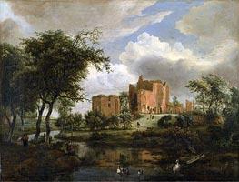 Meindert Hobbema   The Ruins of Brederode Castle   Giclée Canvas Print