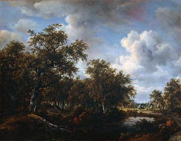 Meindert Hobbema | Landscape with Angler, 1664 | Giclée Canvas Print