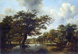Meindert Hobbema | The Old Oak | Giclée Canvas Print