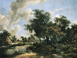 Meindert Hobbema | A Stormy Landscape, c.1663/65 | Giclée Canvas Print