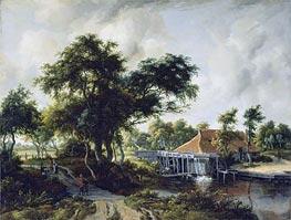 Meindert Hobbema | A Watermill, c.1663 | Giclée Canvas Print