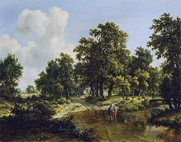Meindert Hobbema | The Outskirts of a Wood, c.1660/70 | Giclée Canvas Print