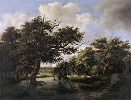 Meindert Hobbema | Woodland Pond, c.1660 | Giclée Canvas Print