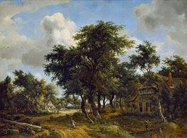 Meindert Hobbema | Village Street under Trees, c.1665 | Giclée Canvas Print