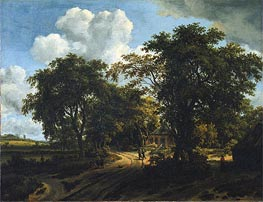Meindert Hobbema   A Cottage in the Woods, c.1662   Giclée Canvas Print