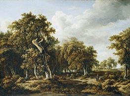 Meindert Hobbema | The Oak Forest, c.1660 | Giclée Canvas Print