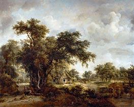 Meindert Hobbema | The Farmhouse, 1662 | Giclée Canvas Print