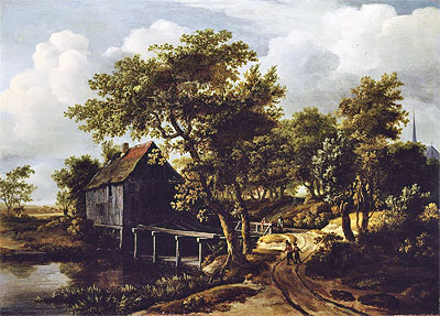 The Water Mill, 1662 | Meindert Hobbema | Painting Reproduction