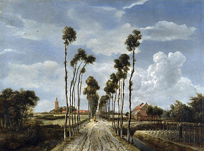 The Avenue at Middelharnis, 1689 | Meindert Hobbema | Painting Reproduction