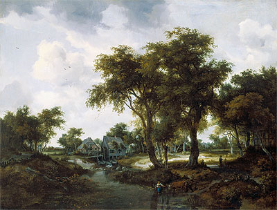 The Water Mill (The Trevor Landscape), 1667 | Meindert Hobbema | Painting Reproduction