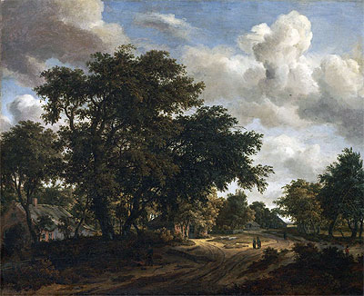 Landscape with a Wooded Road, 1662   Meindert Hobbema   Painting Reproduction