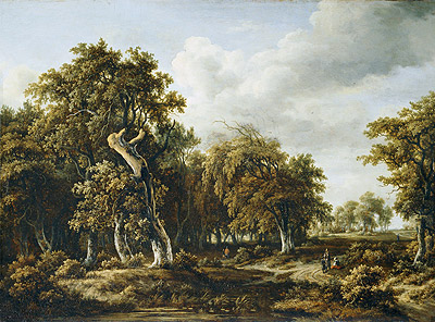The Oak Forest, c.1660 | Meindert Hobbema | Painting Reproduction