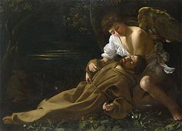 Caravaggio | Saint Francis of Assisi in Ecstasy, c.1594/95 by | Giclée Canvas Print