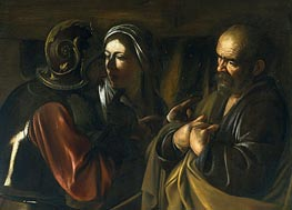 Caravaggio | The Denial of Saint Peter, undated | Giclée Canvas Print