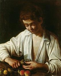 Caravaggio | A Boy Peeling Fruit, c.1592/93 | Giclée Canvas Print
